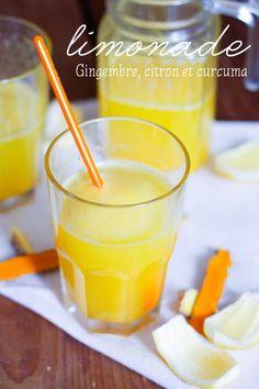 Limonade curcuma citron gingembre