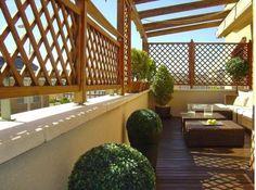 Outdoor Living, Outdoor Decor, Outdoor Stuff, Outdoor Ideas, Door Gate Design, Relaxing Colors, Rooftop Deck, Terrace Design, Garden Furniture