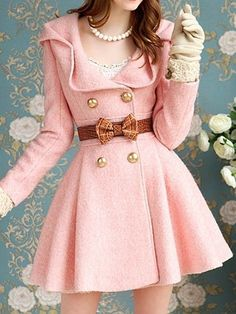 Pink Cute Trench