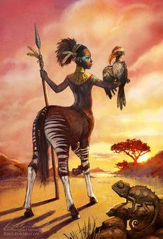 Female warrior centaur mythical reference