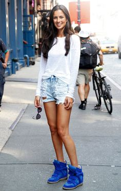 #street #fashion #style #urban #denim #cutoff #shorts #ripped #destroyed #casual #weekend #outfit