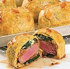 Mini beef wellingtons, made ahead of time and frozen