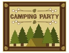 Free Camping Party Printables