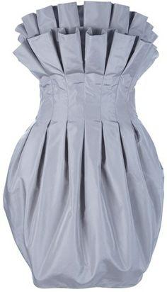 Puff Pleat Dress - Lyst