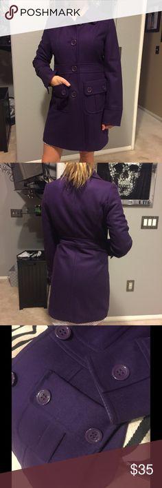 Purple Tulle Wool Pea Coat Purple Tulle Wool Pea Coat, like new worn once. Tulle Jackets & Coats Pea Coats