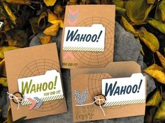 Stampin' Up! My Paper Pumpkin September Kit Wahoo! You Did It cards