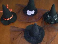 halloween, mini witches hats!