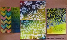World Of Michael Trent: A Test To Seal Dylusions Sprays and Acrylic Paints with StencilGirl Stencils.