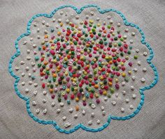 French knots...just 1 or 2...