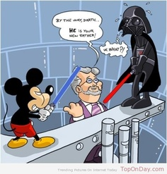 Mickey Mouse and Darth Vader