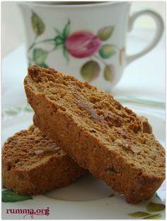 Cevizli kahveli biscotti tarifi - rumma