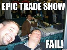 Trade Show fail for sure. Website Services, S Mo, Trade Show, Say Hello, Social Media Marketing, Fails, Funny Pictures, Shit Happens, How To Plan