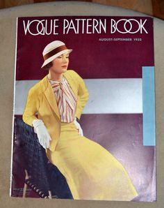Vogue Pattern Book, August-September 1932 featuring Vogue