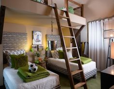 kids bedrooms with lofts | Outfitting Your Kids' Room With A Stylish Loft Bed