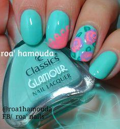 Spring nails #nails #nail #fashion #style #TagsForLikes #cute #beauty #beautiful #instagood #pretty #girl #girls #stylish #sparkles  #gliter #nailart #art  #photooftheday #love #shiny #polish #nailpolish #nailswag #nailartist #art #drawing #watermarble #marbling