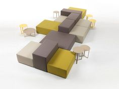 Canapé composable modulable LOUNGE Collection Lounge by Giulio Marelli Italia | design M