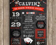 Magic Birthday Chalkboard Sign Printable - Magic Themed Birthday Chalkboard Sign - Digital Birthday Poster - DIY Printable
