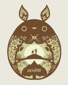 Papercut Style Ghibli Posters - by Michael Rogers All 3 are available for sale at his Etsy Shop for $38.