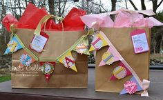 Banner Gift Bag's!!  www.craftystampin.com