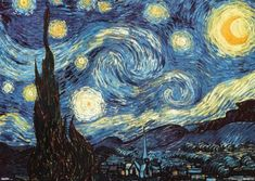"""Imported History: Starry Night woven tapestry is inspired by the work of the famous painter Vincent Van Gogh. Of all the pieces by Van Gogh, this piece """"Starry Van Gogh Pinturas, Vincent Van Gogh, Oil Painting Abstract, Diy Painting, Painting Flowers, Van Gogh Tapete, Van Gogh Wallpaper, Starry Night Wallpaper, Night Gallery"""
