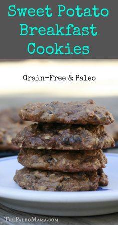 Sweet Potato Breakfast Cookies | #paleo #grainfree #glutenfree | www.thepaleomama.com