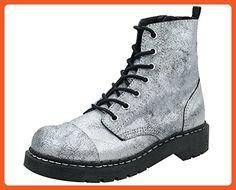 T.U.K. Women's T2208 Combat Boot,Silver/Black,7 M US - Boots for women (*Amazon Partner-Link)