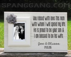 Wedding gift for parents of the Groom gift, Mother of the Groom, Father of the Groom, Mom Dad shower Thank You Gift, Personalized Frame Sign