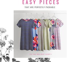 Easy pieces that are perfectly packable. To the holiday shop.