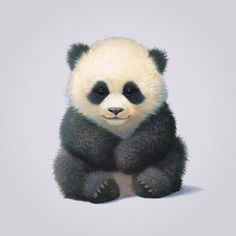 Giclee Print: Panda by John Butler Art : Panda Painting, Painting Prints, Panda Mignon, Baby Animals, Cute Animals, Panda Drawing, Cute Panda Wallpaper, Bird Graphic, Panda Wallpapers