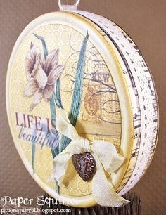 Altered cheese box by Paper Squirrel