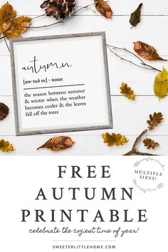 Free fall printable to help you get cozy this autumn. Designed as wall art, this free fall printable Fall Banner, Vintage Fall, Happy Fall Y'all, Fall Signs, Fall Diy, Free Prints, Fall Home Decor, Diy Signs, Wood Signs
