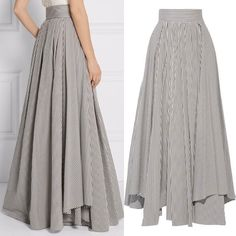 Yaz Trendi: Çizgili Etekler – NEBİHAN AKÇA Robes from women's favorite bits of garments can be the important thing … Hijab Fashion, Fashion Dresses, Modest Fashion, Fashion Tips, Classy Fashion, Skirt Outfits, Dress Skirt, Pretty Outfits, Cute Outfits