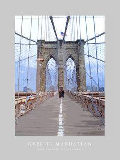 'Over to Manhattan' von Dirk h. Wendt bei artflakes.com als Poster oder Kunstdruck $19.41