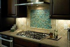 Aqua #backsplash for kitchen