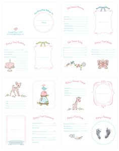 amy j. delightful blog: Baby Doll Record Book Printable for your Little Girl