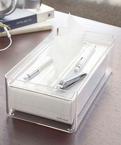 Look at this #zulilyfind! Clear Tissue Box & Tray Lid by Yamazaki #zulilyfinds