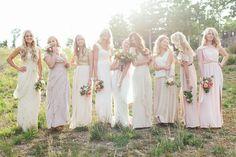blush + neutral bridal party