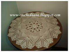 Crochês de Analu: Toalhinha redonda
