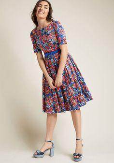 Retro Boat Neck Dress with Pockets- xl