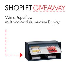 #Win a Paperflow Literature Display! Repin, then go to our blog and leave us a comment letting us know where you'd use this literature display :) Good luck! #GIVEAWAY