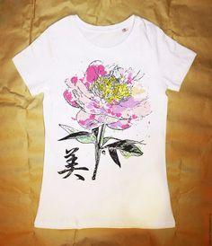 Купить Футболка Flower на 8 марта - печать на ткани, печать на футболках, печать принтов