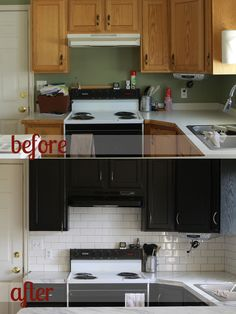 helpful review of Rustoleum Cabinet Transformations system - how to paint your kitchen cabinets - before and after - itsalwaysautumn.com