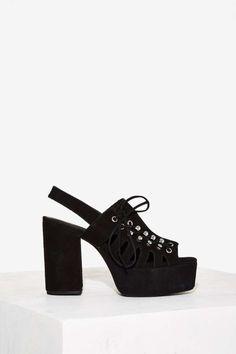 Jeffrey Campbell Nedra Suede Platform - Black - Shoes   Platforms   Jeffrey Campbell