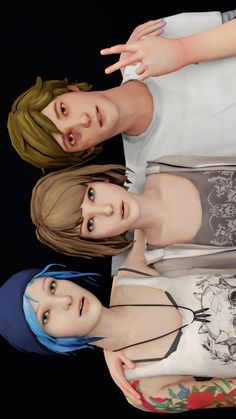Life is Strange Game, Fan Art, Cosplay. stuckintheretrozone: what if instead of going to the junkyard they just took selfies with warren all night