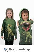 Toddler Raptor Hoodie Shirt Lightweight USA Made  why was this not a thing when i was a kid  !