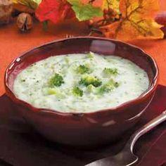 soup recipes | Rich Broccoli Cream Soup Recipe photo by Taste of Home