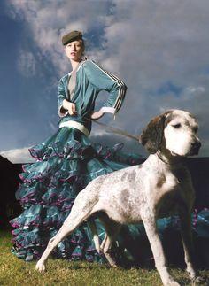 'Full Blown', Jade Parfittby Kristian Schuller, Tatler December 2003.  Christian Dior Fall Winter 2003 Couture