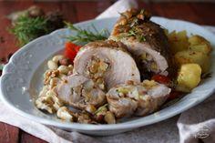 Intrusa na Cozinha: Lombo de Porco Recheado com Pera & Frutos Secos [Pear & Nuts Stuffed Pork Loin]