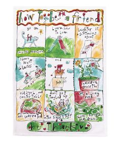 Look what I found on #zulily! 'How To Be A Friend' Kitchen Towel - Set of Two #zulilyfinds