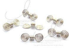 Loc Jewelry Sterling Silver / Coils and Spirals Loc cuff / Loc Slide/ hair cuff Jewelry/ Hair Jewelry  small dreadlocks / microlocs by kawaiiAdornments on Etsy
